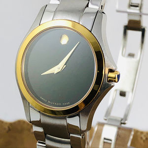 Movado Museum Dot Gold and Stainless Steel Watch
